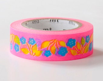 MT ex 2013 AW - Japanese Washi Masking Tape - Pink Retro Flowers (Similar to the Limited Edition)