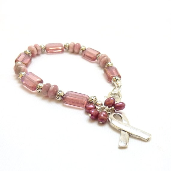 items similar to breast cancer awareness bracelet pink