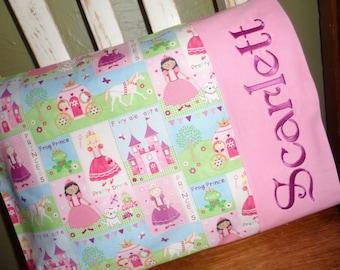 Princess Personalized Travel Pillow Pillowcase