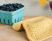 Crochet Dish Cloth Set - Modern Farmhouse Decor - Hostess Gift - Mustard Yellow