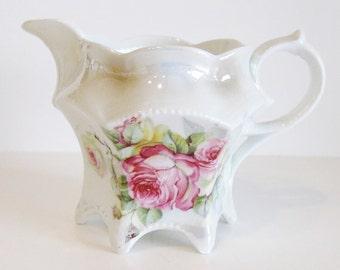 Vintage Lusterware Creamer Roses