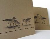 Sea Birds Personalized Notecard Set - Nautical, Sea, Beach Personalized, Customized, Blank Inside - 6 Card Set