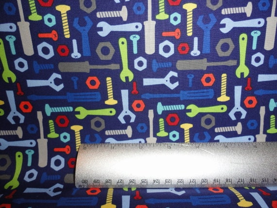 Robot tools technical tech cotton fabric quilt quilting for Robot quilt fabric