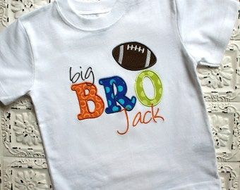 Big brother or little brother shirt football-- Customizable colors