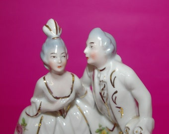 Victorian Courting Couple Figurine, Stamped Germany,  Romantic,  Vintage 1950's