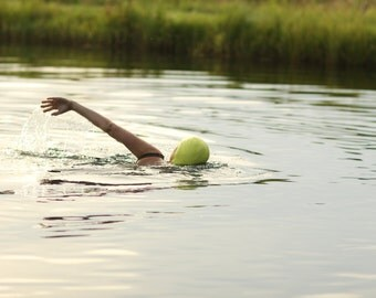 Photography Woman Swimming in a Pond