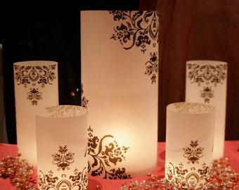 """13"""" tall Custom Table number Luminaries for centerpieces, table numbers at wedding, events, balls"""