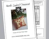Nordic Squirrel Ornament Cross Stitch PDF Pattern