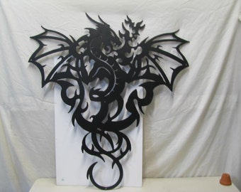Dragon 002 XLarge Metal Wall Yard Art Silhouette