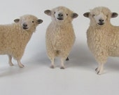 Colin's Creatures Handmade Sheep Figurines, English Leicester Longwool