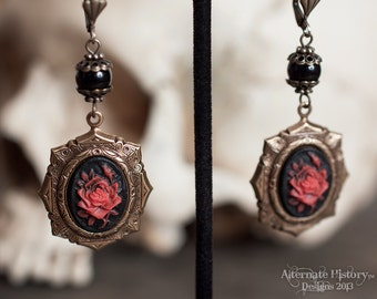 SALE - Rose of Sanguine Earrings