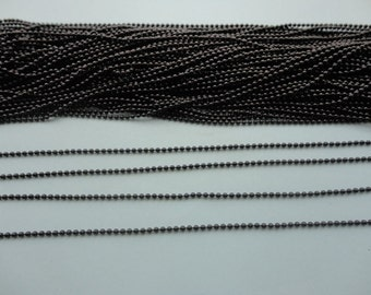 32 Ft (10 meters) black finish ball chain 1.5mm