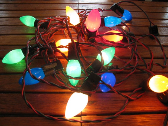 String Lights Big W : Vintage 1960s 15 Big C9 Lights String / Strand by gaelianna