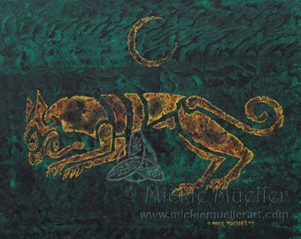Celtic Wolf, Tribal Magick Series Open Edition Print