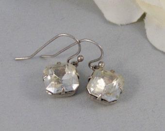 Vintage Diamonds,Earring,Vintage Earrings,Diamond,Diamond Earrings,Clear,Crystal,Rhinestone. Handmade Jewelry by valleygirldesigns.