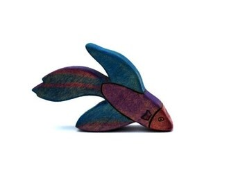 betta fish wood waldorf toy