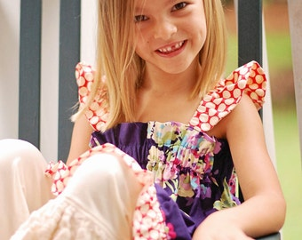 Ruffle Swing Top Sewing Pattern - Sizes 6m - 10, Girls and Dolls