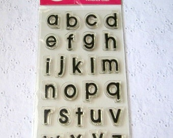 Scrappy Cat Clear Stamp - Alphabet Set, Playful Classic Letters