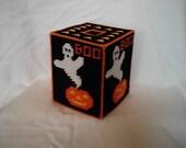 Halloween Tissue Box Cover Plastic Canvas PDF Pattern