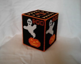 Halloween Tissue Box Cover Plastic Canvas PDF Pattern
