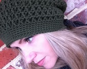 Crochet Hat Pattern Slouchy Textured Beanie No.209 Digital Pattern Instant Download