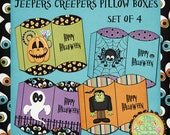 Jeepers Creepers Printable Halloween Pillow Boxes