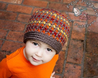 crochet beanie pattern, easy crochet beani pattern, striped crochet pattern, crochet pattern, striped crochet pattern, boy or girl hat
