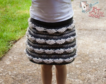 Girls crochet skirt pattern, easy skirt pattern, girls skirt pattern, crochet pattern, permission to sell, crochet skirt