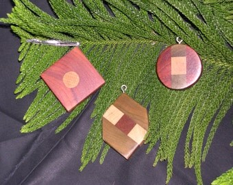 Wooden Christmas ornaments Multi wood
