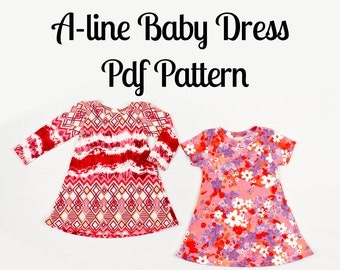 Baby Dress Pattern - Made with soft knit fabric!