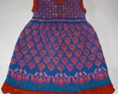 Knitting Pattern: Flowers Dress Size Three Years