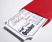 Movie Ticket Wedding Invitation Sample