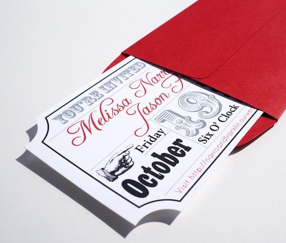 Wedding Invitation Tickets: Movie Ticket Wedding Invitation Sample
