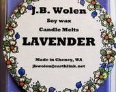 Soy Wax Candle Melts Scented With Lavender Essential Oil