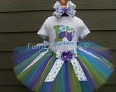 Custom Tutus...BUTTERFLY KISSES...tutu set with NAME...3,6,9,12,18,24 months and 2T,3T,4T,5T,6T years,costume, birthday, dress up