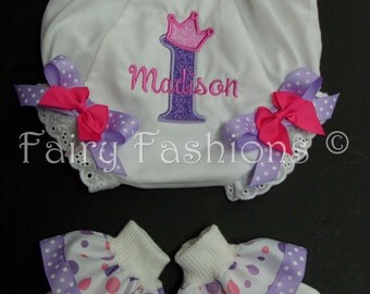Custom Bloomers... FANTASY BLOOMERS and SOCKS..any color...any theme...diaper covers..dress up..birthday bloomers, first birthday