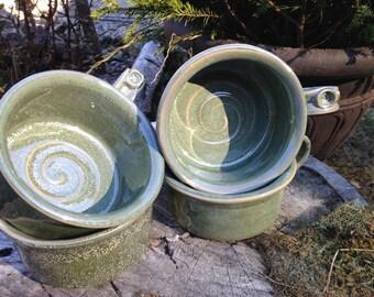 Soup Mug in Speckled Green