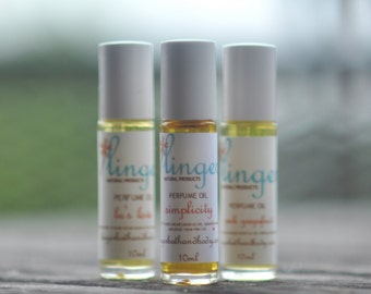 Perfume Roll On - Lavender Patchouli -   Hand Blended Essential Oils  - Simplicity