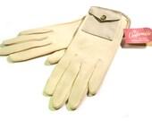 Kitschy Vintage 1950s Grandoe Pocket on Wrist Length Gloves NEVER WORN Size 7-1/2