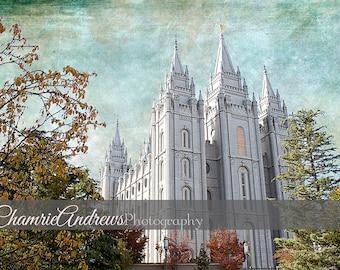Salt Lake LDS Temple - Instant DIGITAL DOWNLOAD - Large Temple Print