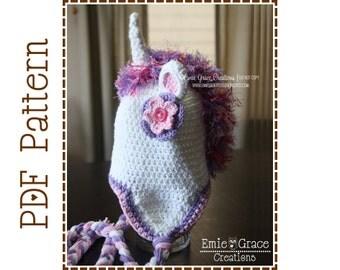Unicorn Hat Crochet Pattern, 8 Sizes from Newborn to Adult, GLIMMER UNICORN - pdf 115