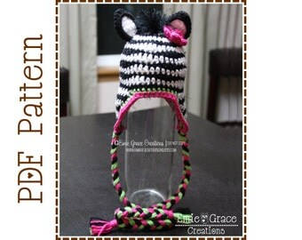 Crochet Zebra Hat Pattern, 8 Sizes from Newborn to Adult, ZOEY and ZANE ZEBRA - pdf 103