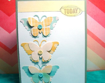 Today Layered Butterfly Any Occasion Card, Blank Inside