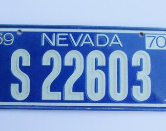 Vintage Cereal Premium License Plate Nevada 1970 mini plate