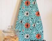 Designer Ironing Board Cover - Michael Miller's Mid-Century Modern Atomic Turquoise