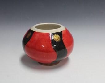 Golden Sphere Stoneware Pot