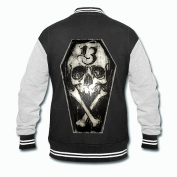 Lucky 13 Skull and Bones Varsity Jacket