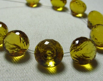 Brand New - 5 Matched Pairs - Golden CITRINE  Quartz - Faceted Onion Briolettes amazing Gorgeous sparkle Huge Size 13x13 mm