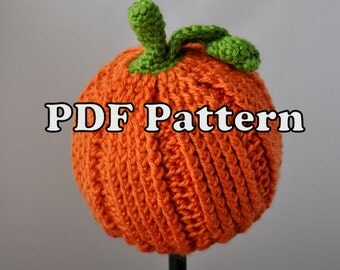 PDF PATTERN - Crochet Little Pumpkin Hat