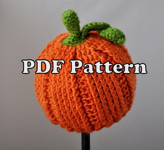 Pdf Pattern Crochet Little Pumpkin Hat